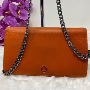 Authentic Preowned Chanel Orange Wallet